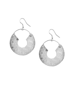 Jaladhi Earring - Silver Honeycomb