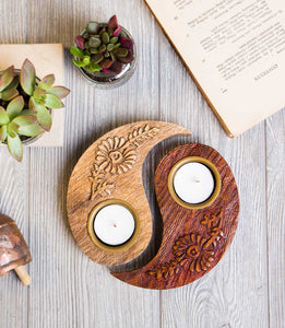 Ying & Yang Tea Light Holder