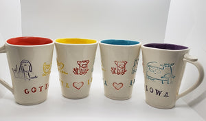 Pottery Plus Iowa Mugs
