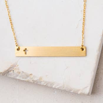 Layla Cross Bar Necklace