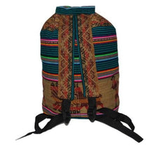 "Load image into Gallery viewer, Back Pack Peru Cotton Manta Hand Loomed Fabric 12"" x 18"" x 8"""
