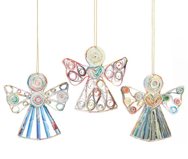 Quilled Angels Ornament Set