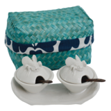 Load image into Gallery viewer, Ceramic Salt & Pepper Box Set