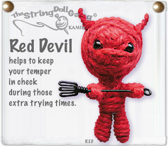 Red Devil String Doll