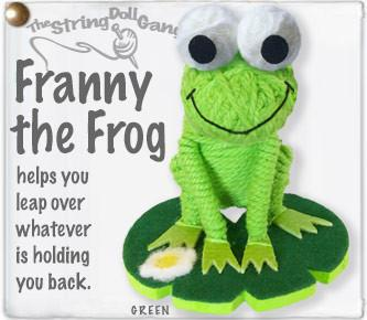 Franny the Frog String Doll
