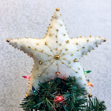Load image into Gallery viewer, Felt Golden Star Tree Topper