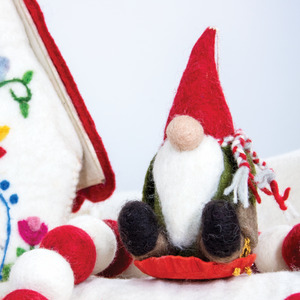 Felt Ornament: Sledding Gnome