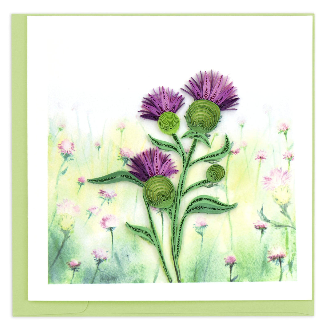 Quilled Thistle Card
