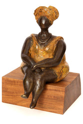 Bronze Sweet as Honey Lady Sculpture