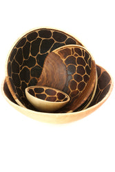 Wild Design Wooden Salad Bowl from Zambia - Meduim