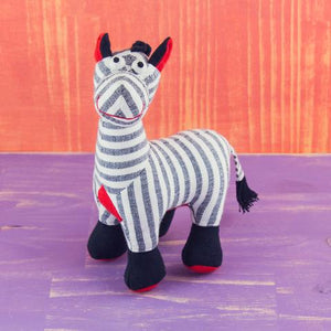 Fabric Plush Zebra