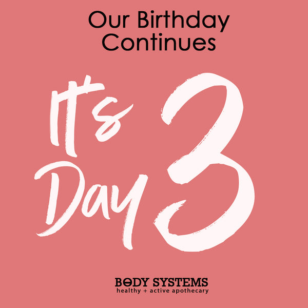 It's Day 3 of our Birthday Celebration!