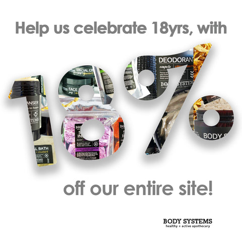 Join us in celebrating 18 years in business with 18% off code: 18for18