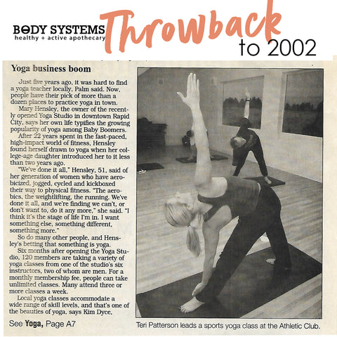Throwback to yoga classes 2002