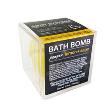 Load image into Gallery viewer, Lemon + Sage Bath Bomb 3oz