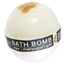 Load image into Gallery viewer, Champagne + Gold Bath Bomb 6.5oz