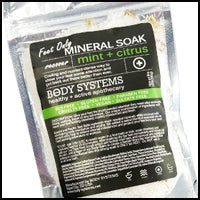Mint + Citrus Foot Mineral Soak