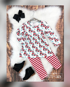 Pete + Lucy: Holly Penguin Pant Set for Girls - Whim & Wonder Boutique