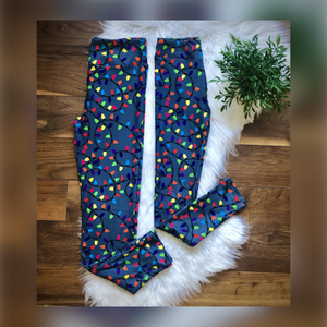 Christmas Lights Mommy and Me Leggings