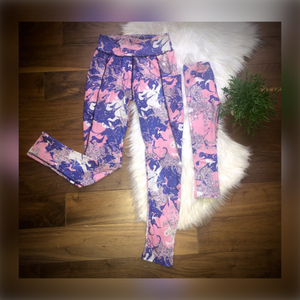 Glitter Marble Mommy + Me Leggings