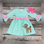 Load image into Gallery viewer, Dainty Deer Dress for Girls - Whim & Wonder Boutique