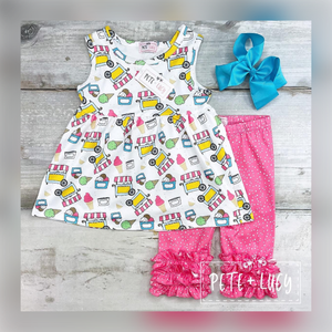 Ice Cream Party Capri Set