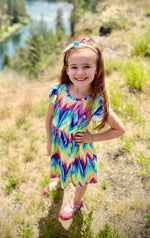 Load image into Gallery viewer, Groovy Girl Dress for Girls - Whim & Wonder Boutique