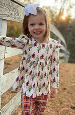 Load image into Gallery viewer, Plaid + Trees Two Piece Pant Set for Girls - Whim & Wonder Boutique