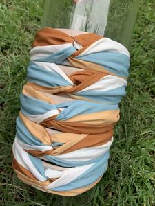 Knot Headband - blue/white/tan/beige