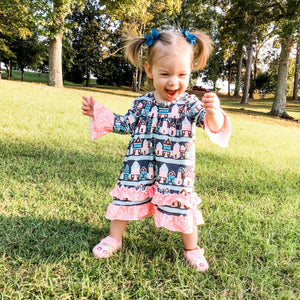 Home Sweet Home Dress for Girls - Whim & Wonder Boutique
