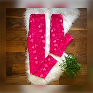 Breast Cancer Awareness Leggings - Kids and Adult Sizes - Whim & Wonder Boutique
