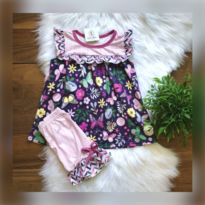 Butterfly & Garden Shorts Set