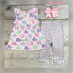 Ella the Elephant 2pc Capri Set