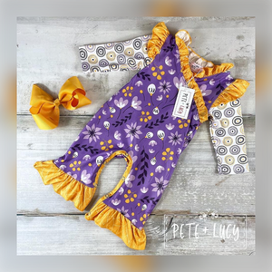 Lemon and Lavender Baby Romper