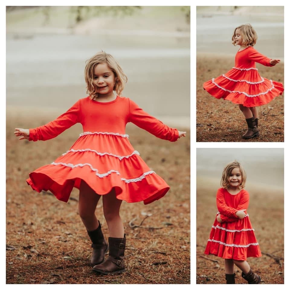 Heart So Full Twirl Dress by Honeybeesi