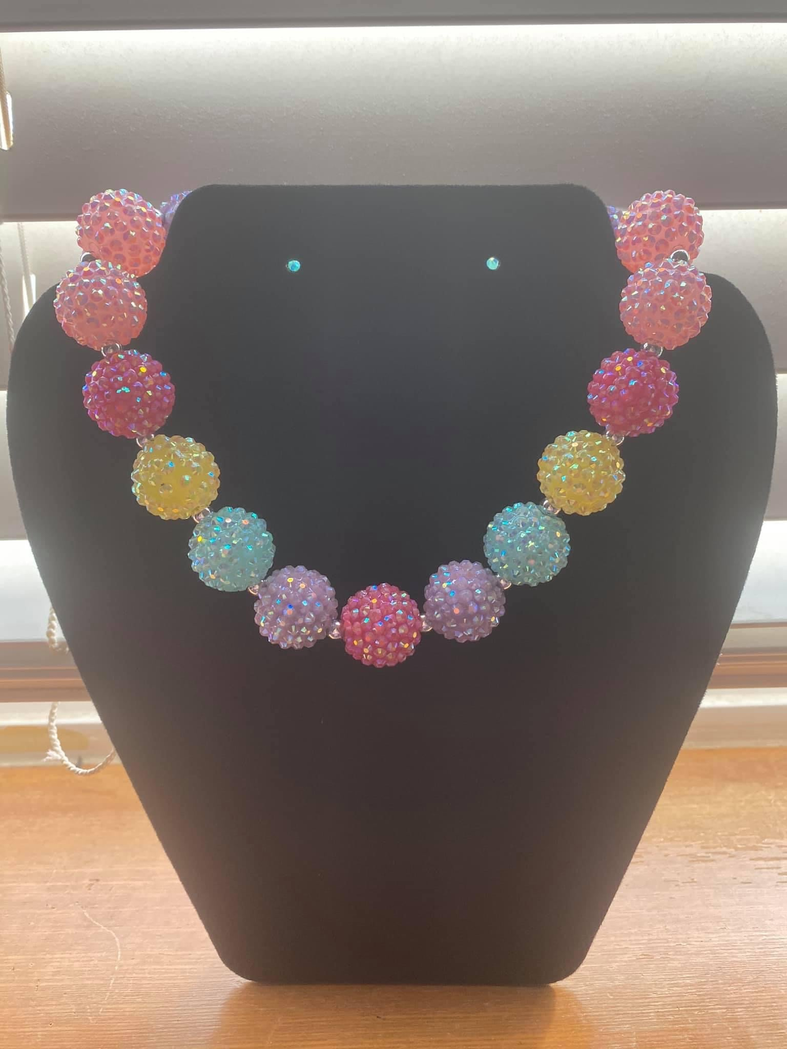 Colorful Bubblegum Necklace