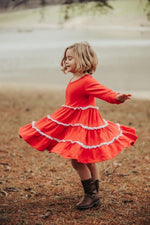 Load image into Gallery viewer, Heart So Full Twirl Dress by Honeybeesi