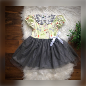 Bunnies + Buffalo Plaid Tutu Dress