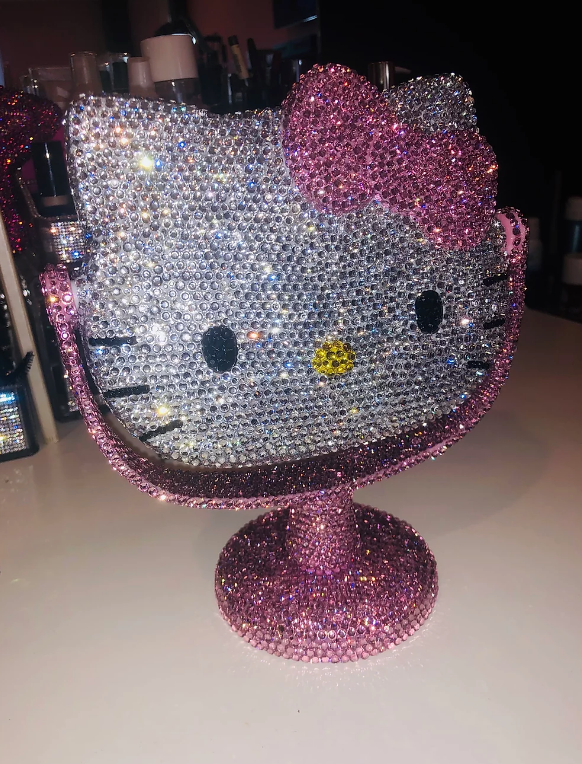 Crystalized Hello Kitty Mirror Stand