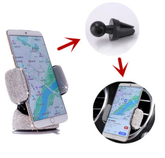 Crystal Car Phone Stand