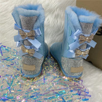 Bling Bow Boots