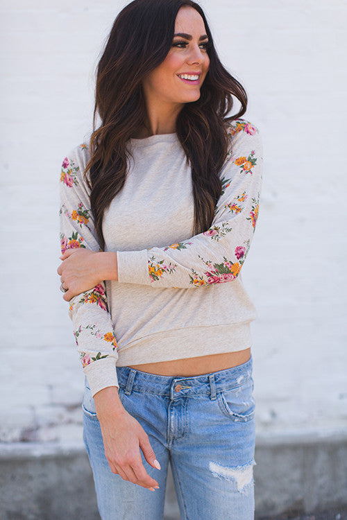 Floral Slouchy Top