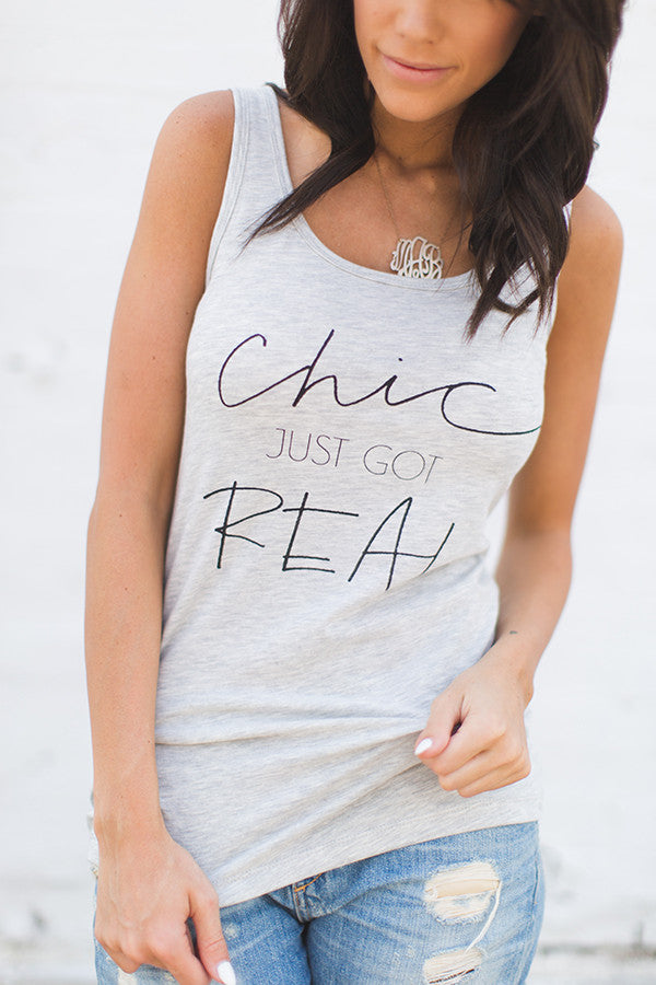 Chic just got Real tank