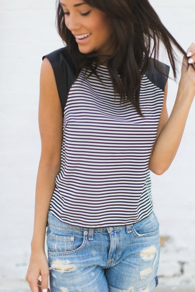 Striped Casey Crop top