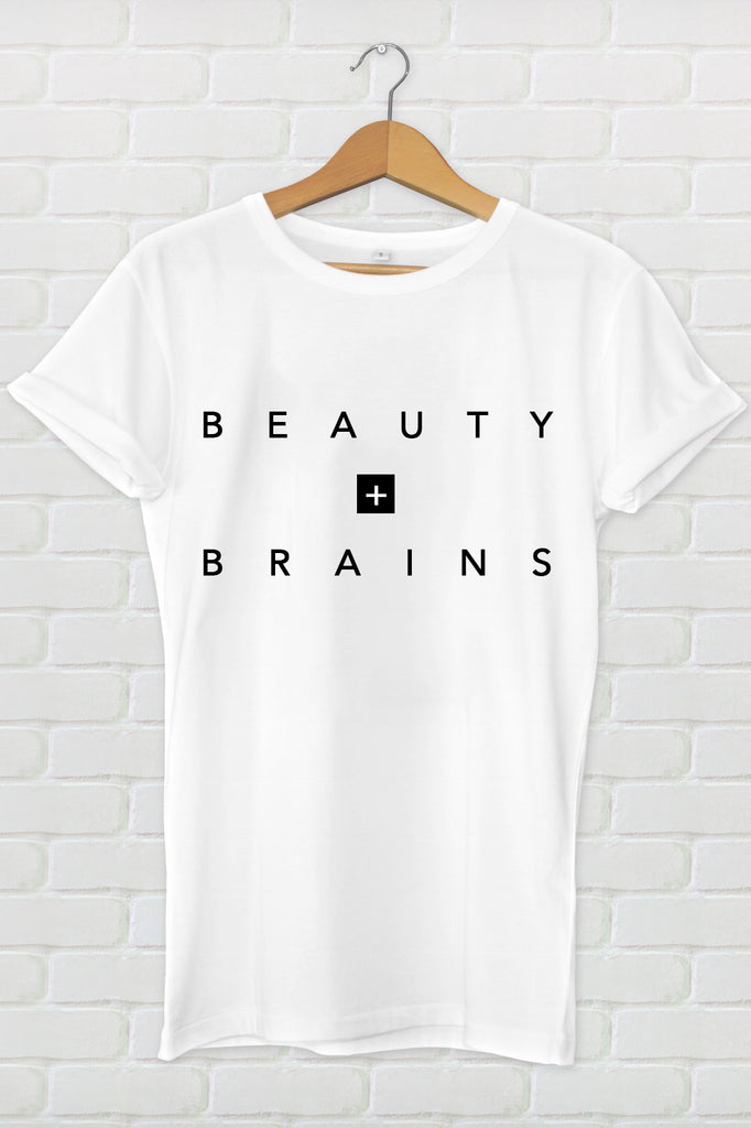 Beauty + Brains Tee | Collab Design w/ @modestgoddess_