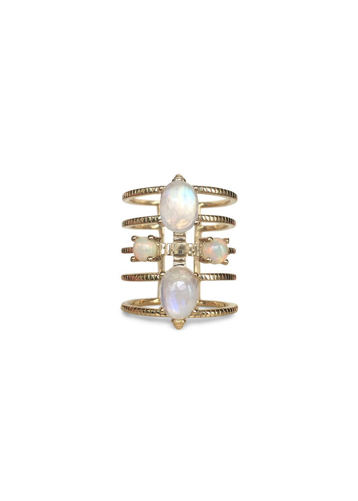 DANTE | Opal & Moonstone | Adjustable Ring
