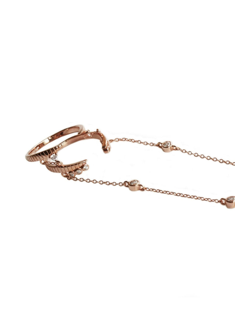 AMATA | double ring- hand chain