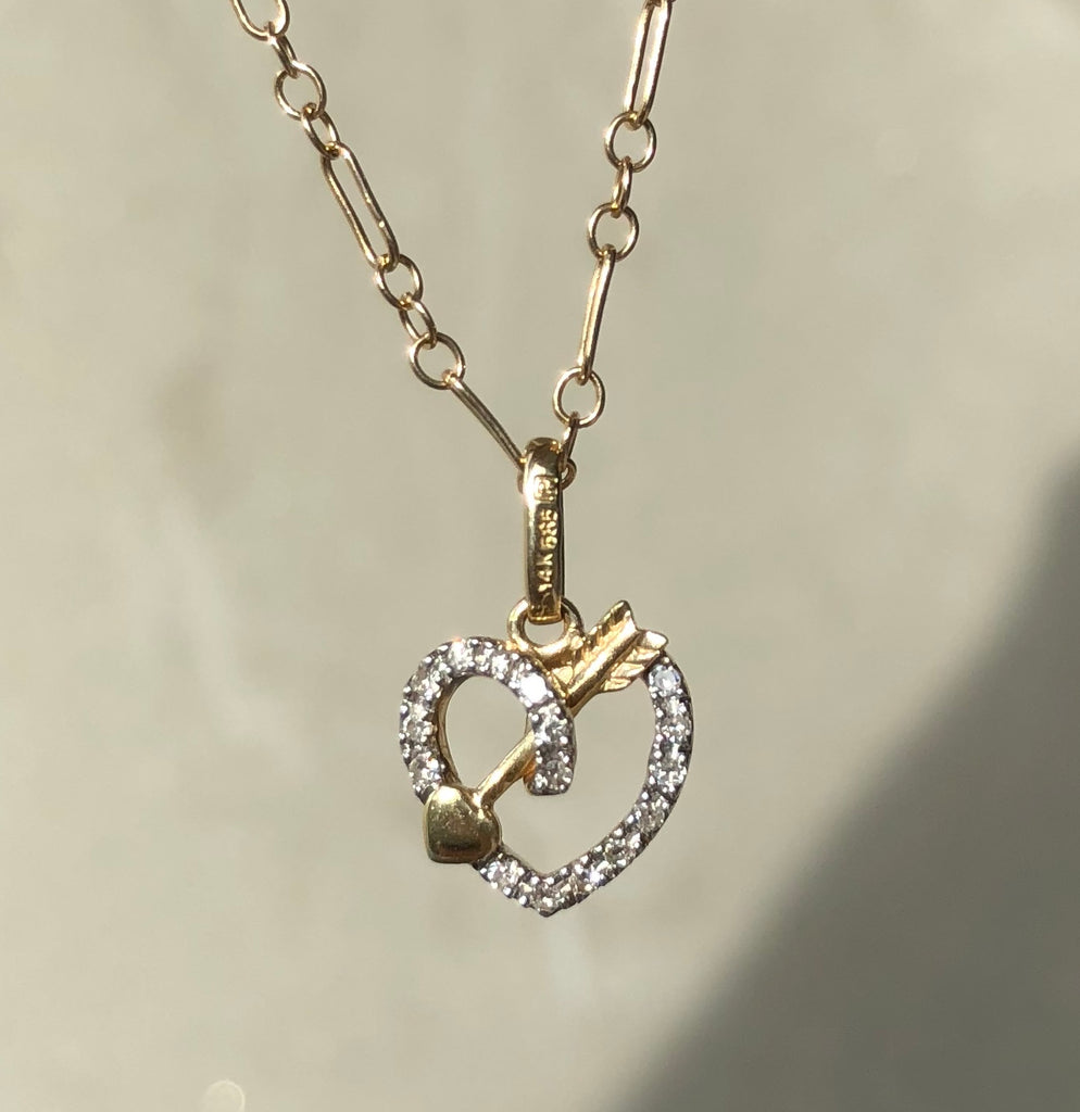 VENIV FINE | 14K Diamond Loveknot necklace