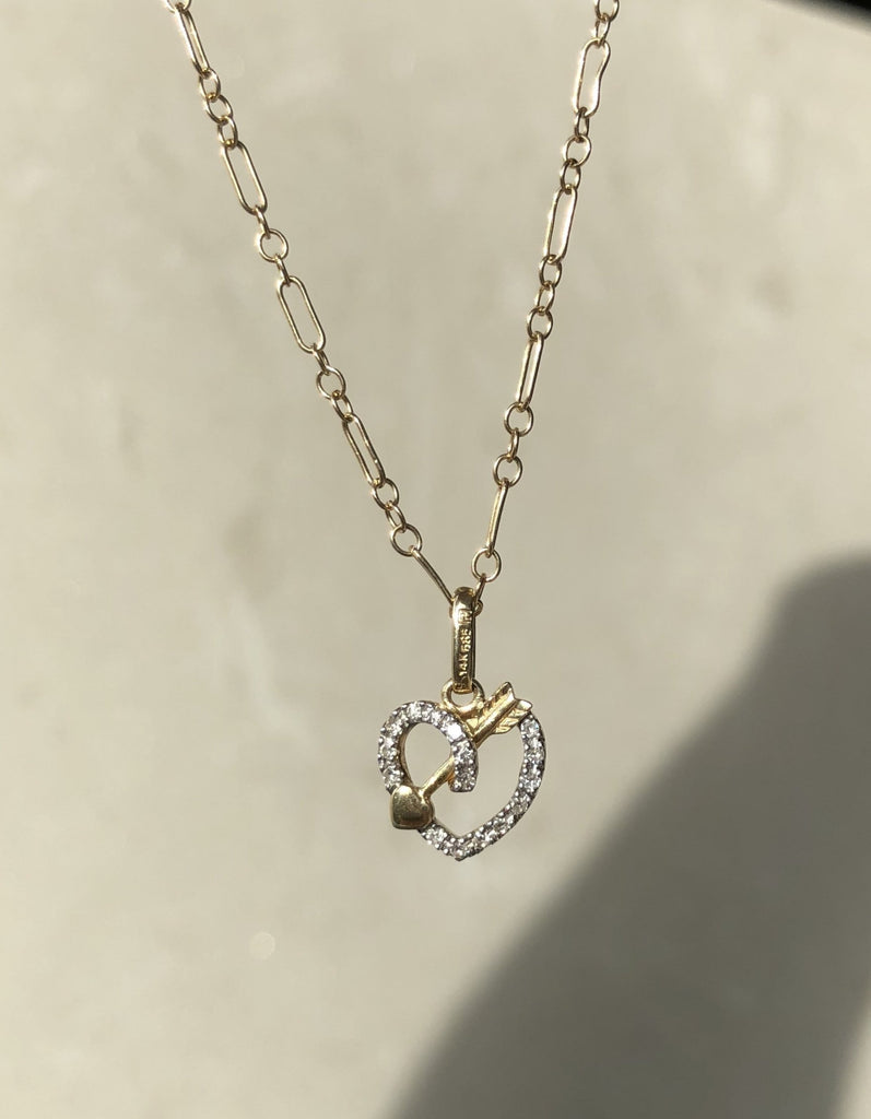 14K Diamond Loveknot necklace | VENIV FINE