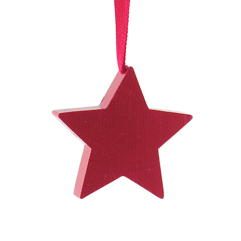 Star Medium hanging decor Red